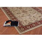 Austell Cream/Red Area Rug Rug Size: 3'9