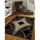Kirwan Hand-Tufted Brown/Cream/Black Area Rug Rug Size: Rectangle 6' x 9'