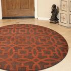 Creager Hand-Tufted Wool Brown/Orange Area Rug Rug Size: Round 8'
