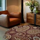 Creager Hand-Tufted Wool Brown Area Rug