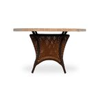 Grand Traverse Wicker Rattan Dining Table Finish: Bisque, Table Size: 48