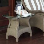 Mandalay Wicker Rattan Side Table Finish: Antique White