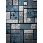 Giuliana Dusty Brick Light Blue/Gray Area Rug Rug Size: 5' x 7'