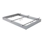 All Steel Bed Base Size: Queen, Color: Matte Aluminum