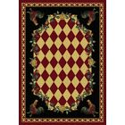 Novelty Synthetic Red/Black Area Rug Rug Size: Rectangle 4' x 5'