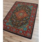 Robert Caine Montreal Desert Red/Blue Area Rug Rug Size: Rectangle 3' x 4'