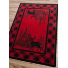 Cabarita Whitetail Plaid Red Area Rug Rug Size: Rectangle 8' x 11'