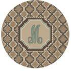 Lanikai Monogrammed Turquoise/Brown Area Rug Letter: M