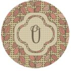 Happel Delicate Foliage Monogrammed Pink Area Rug Letter: O