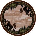 Loyalton Timber Bears Brown Area Rug Rug Size: Round 8' x 8'