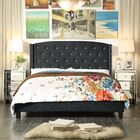 Martins Upholstered Panel Bed Color: Charcoal, Size: Queen