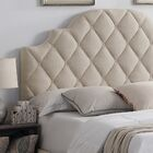 Aderyn Upholstered Panel Headboard Color: Charcoal, Size: Full