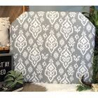 Bainsby Beveled Twin/Twin XL Upholstered�Panel Headboard Upholstery: Gray