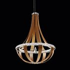 Crystal Empire 16-Light  LED Empire Pendant Base Finish: Snowshoe, Color Temperature: 4000K