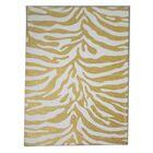 Zebra Dark Gold Area Rug Rug Size: 5' x 8'