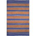 Washington Mews Blue/Brown Area Rug Rug Size: Runner 2'6
