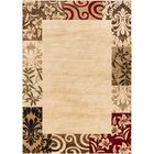 Janell Vane Willow Damask Patch Border Area Rug Rug Size: Rectangle 9'3