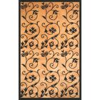 Eleanor Hand-Knotted Gold/Black Area Rug Rug Size: 8' x 10'
