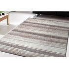 Goodell Brown/Beige Stripe Area Rug Rug Size: Rectangle 6'7