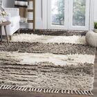 Xue Hand Knotted Wool Ivory/Gray Area Rug Rug Size: Rectangle 5' x 8'