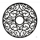 Nedal Ceiling Medallion Finish: Black Iron, Size: 48
