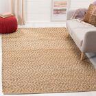 Munhall Fiber Hand-Woven Natural/Brown Area Rug Rug Size: Rectangle 5' x 8'