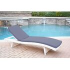 Valery Chaise Lounge with Cushion Finish: White, Cushion Color: Steel Blue