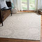 Salerna Abstract Hand-Tufted Wool Ivory/Gray Area Rug Rug Size: Rectangle 4' x 6'