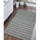 Brookes Hand-Tufted Steel Blue Area Rug Rug Size: Rectangle 7'6