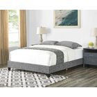 Louise Basic Upholstered Panel Bed Color: Gray, Size: Queen