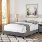 Octavia Basic Upholstered Panel Bed Color: Gray, Size: King