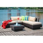 Galina 6 Piece Sectional Set with Cushions Cushion Color: Beige