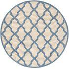 Callender Cream/Blue Area Rug Rug Size: Round 6'7