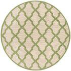 Callender Cream/Olive Area Rug Rug Size: Round 6'7