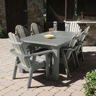 Camacho 7 Piece Dining Set Color: Glacier, Table Top Size: 40.5'' H x 84'' W x 127'' L