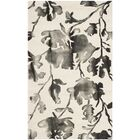 Brinkworth Hand Tufted Wool Ivory/Charcoal Area Rug Rug Size: Rectangle 6' x 9'