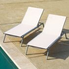 Dickey Adjustable Sling Reclining Chaise Lounge Color: Beige, Set Of: Set of 1