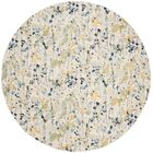 Gore Ivory/Yellow Area Rug Rug Size: Round 6'7
