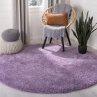 Collin Purple Area Rug Rug Size: Round 6'7