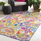 Dorinda Yellow/Pink Indoor/Outdoor Area Rug Rug Size: Rectangle 7' 10