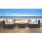 Sabin 5 Piece Sectional Set with Cushions Frame Color: Gray