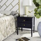 Aylin 2 Drawer Nightstand Color: Navy