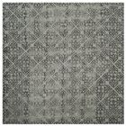 Edmeston Hand-Tufted Gray Wool Area Rug Rug Size: Square 7'