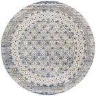Lamartine Light Gray/Blue Area Rug Rug Size: Round 6'7