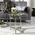 Alexios Glass End Table