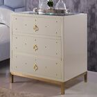Dolson 3 Drawer Nightstand Color: Beige