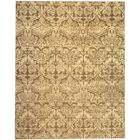 Duy Damask Hand Knotted Wool Yellow Area Rug Rug Size: Rectangle 8' x 10'