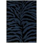 Esteban Hand-Carved Blue/Black Area Rug Rug Size: 5' x 7'