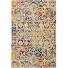 Landen Beige/Blue Area Rug Rug Size: Rectangle 5'3