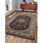 Marathon Hand Knotted Wool Gray/Blue Area Rug Rug Size: 6'4